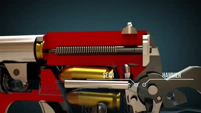 (Colt M1911)آلية عمل مسدس