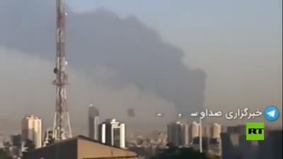 A fire in an oil refinery south of Tehran, June 2, 2021