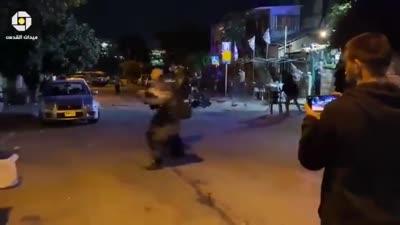 مصادمات بين فلسطينيين ومستوطنين في حي الشيخ جراح، 21 يونيو 2021