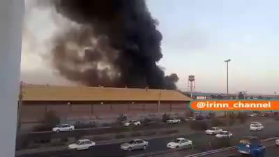 حريق في مصنع جنوب كرج، إيران، 5 يوليو 2021