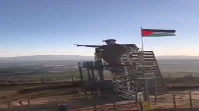 حزب الله ينصب تمثالا لقاسم سليماني في مارون الراس على الحدود اللبنانية الإسرائيلية، فبراير 2020