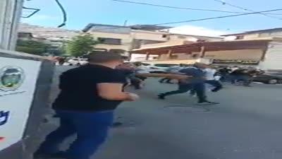 Israeli police shoot a protester in Deir al-Assad, 19 Jun 2021