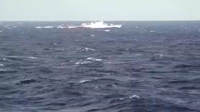 Navy IRIS Sahand crossing an area of the Atlantic Ocean, June, 2021