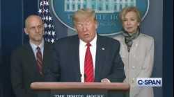 الرئيس دونالد ترمب يعلن عن استخدام الهيدروكسي كلوروكين كعلاج لفيروس كورونا، مارس 2020