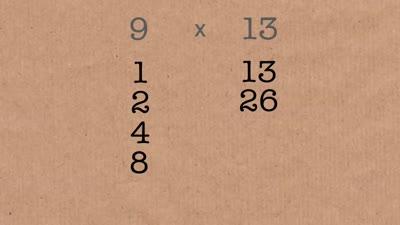 كيف كان المصريون القدماء يقومون بعمليات الضرب الحسابية. بداية من الدقيقة ٢:٥٠