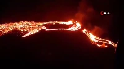 The first moments of the Icelandic volcano eruption, march 2021