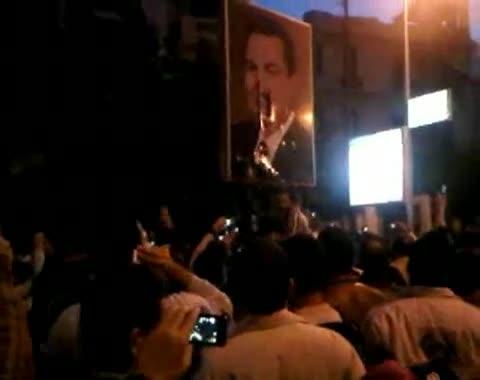 احدى مظاهرات 25 يناير 2011 في مصر