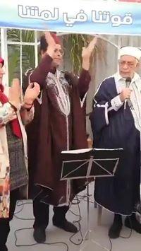 شاهد: مرشح النهضة لرئاسة تونس عبد الفتاح مورو يغني.😅