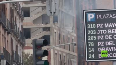انفجار عنيف يهز وسط العاصمة الإسبانية مدريد